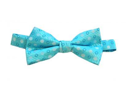 Aqua Dot Banded Bow Tie 3011-0