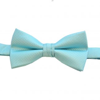 Aqua Tone on Tone Banded Bow Tie 7995-0