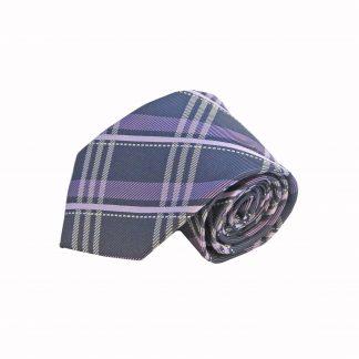 """63"""" XL Black, Purple Plaid Men's Tie"""