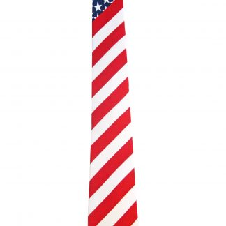 "49"" Boys USA Flag Diagonal Tie"