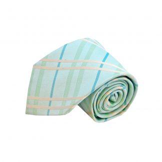 """63"""" XL Mint Aqua Plaid Men's Tie"""