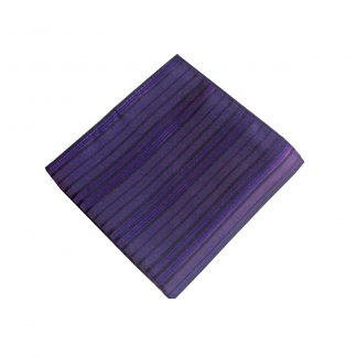 Dark Purple/Black Stripe Pocket Square 9154-0