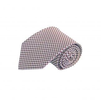 Burgundy Herringbone Silk Men's Tie 7853-0