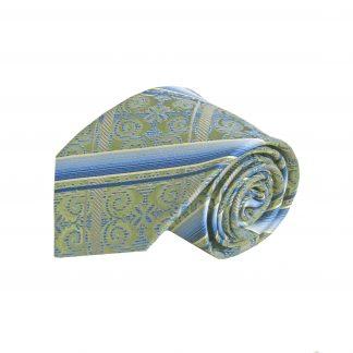 Green, Blue Criss Cross Silk Men's Tie 4293-0