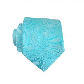 """49"""" Boy's Turquoise Paisley Tie 1382-0"""