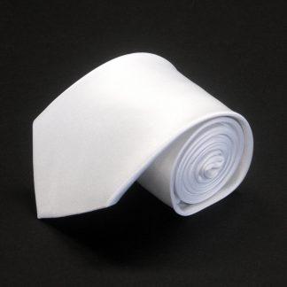 """63"""" XL White Solid Men's Tie 3626-0"""