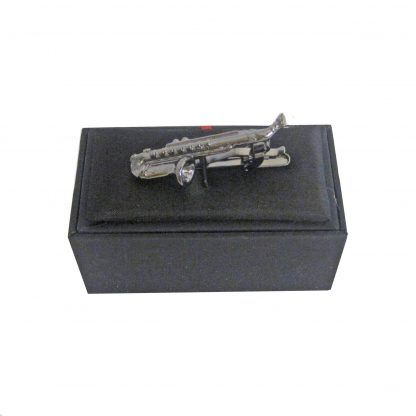 Black Saxophone Tie Bar 11129-0