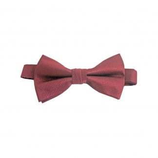 Burgundy Solid Tone on Tone Banded Bow Tie 4704-0