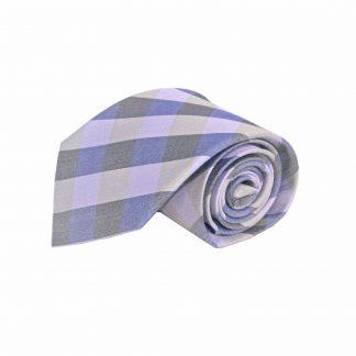 Lavender, Gray Block Silk Men's Tie 7631-0