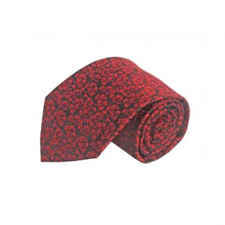 Red, Black Floral Men's Tie 10570-0