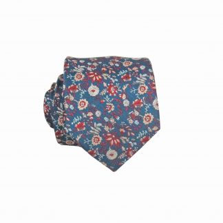 "49"" Boys Self Tie Navy, Rust, Khaki Floral Tie 6815-0"