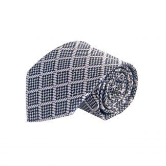 Black, Gray Square Pattern Men's Tie 6493-0