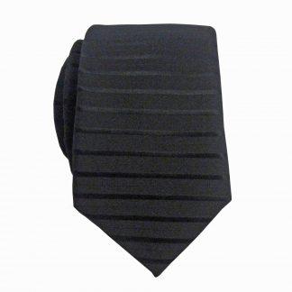 Black Tone on Tone Stripe Skinny Men's Tie 3925-0