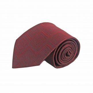 Burgundy Tone on Tone Geometric Men's Tie 4536-0