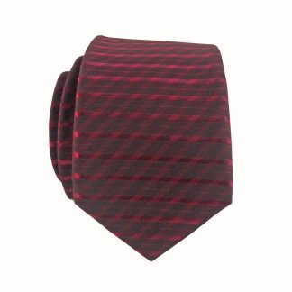 Burgundy Tone on Tone Stripe Skinny Men's Tie 11520-0
