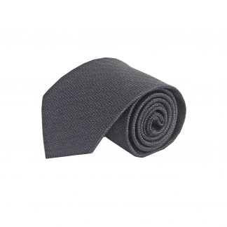 Charcoal, Black Opposite Stripe Men's Tie 6831-0