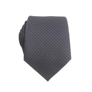 Charcoal Dot Tone on Tone Men's Skinny Tie 11017-0