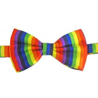 Rainbow Banded Bow Tie 4237-0
