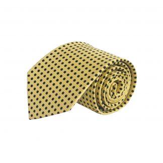 Yellow, Black Dots Silk Men's Tie 6750-0