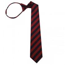 "11"" Boy's Zipper Navy, Red Stripe Tie 10150-0"