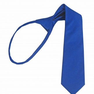 "14"" Boy's Royal Solid Zipper Tie 3721-0"