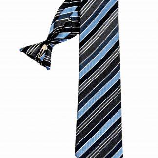 "21"" Men's Clip Blue, Navy, Black Tie 7080-0"