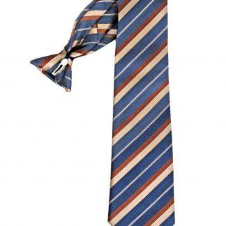 """21"""" Men's Clip Navy, Khaki Stripe Men's Tie 1941-0"""