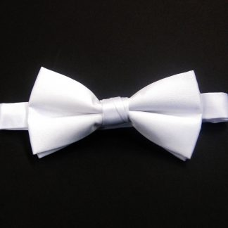 White Banded Bow Tie 878-0
