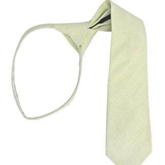 "17"" Boy's Mint Solid Zipper Tie 1490-0"