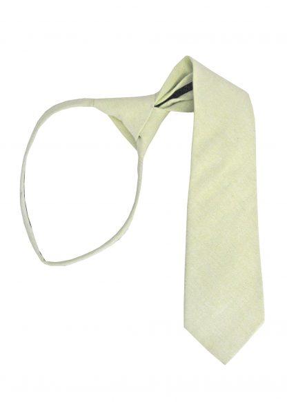 "14"" Boy's Mint Solid Zipper Tie 9061-0"