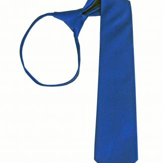 "17"" Boy's Royal Solid Zipper Tie 7424-0"
