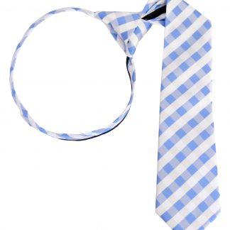 "11"" Boy's Zipper Blue, White Criss Cross Tie 3811-0"