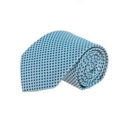 Aqua, Navy Dot Men's Tie 8683-0