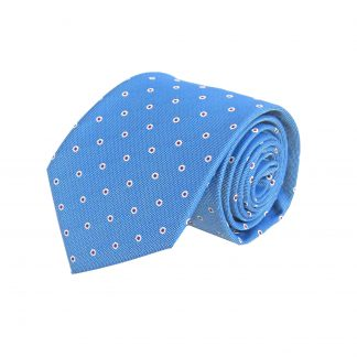 Blue, Red Small Dot Men's Tie 10936-0