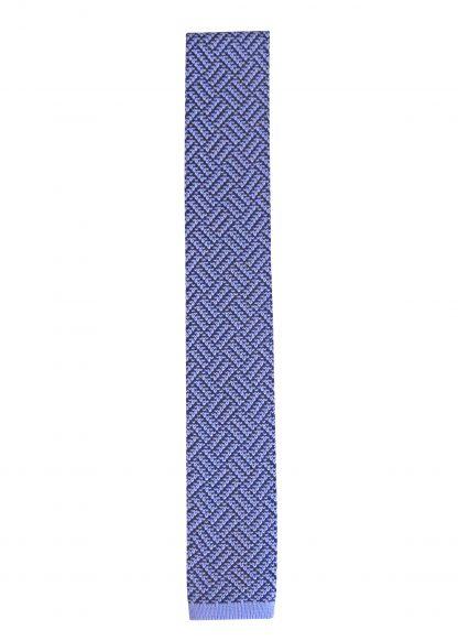 Blue, Turquoise Pattern Knit Men's Tie 3854-0