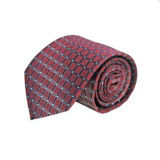 Burgundy, Navy Squares Men's Tie 4611-0