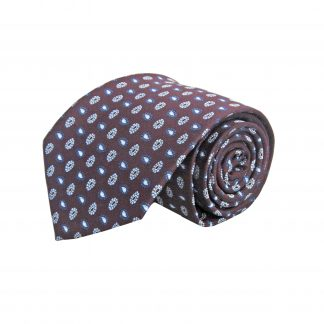 Burgundy Small Paisley Men's Tie 10154-0