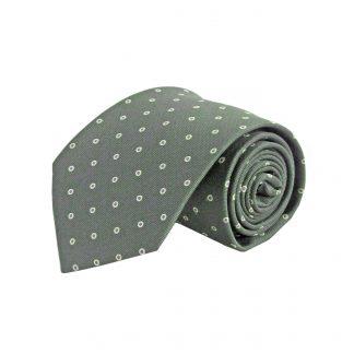 Olive, Purple Dot Men's Tie 1392-0