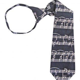 "Boy's 14"" Music Zipper Tie 5114-0"