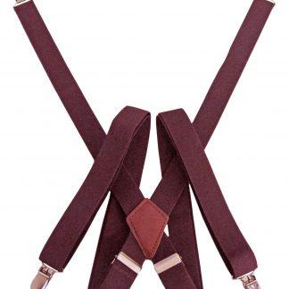 Burgundy Solid Suspenders 7074-0