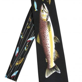 Fish & Lures Black Men's Tie 3066-0