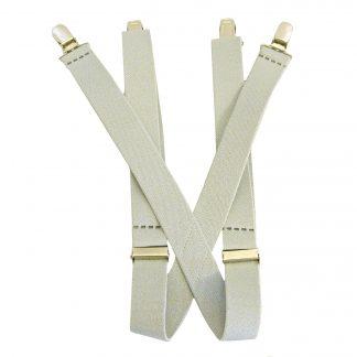 """Light Gray Solid 1 x 30"""" Kids Suspenders 10227-0"""