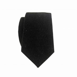 Black Velvet Skinny Men's Tie w/Pocket Square 7352-0