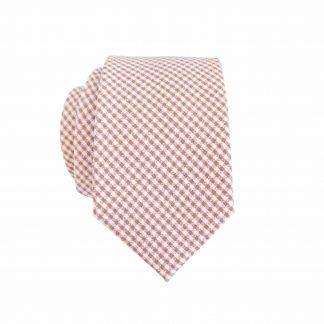 Mauve, Creme Small Criss Cross Cotton Skinny Men's Tie 2145-0