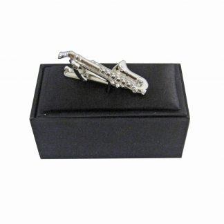 Silver Saxaphone Tie Bar 9316-0