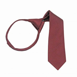 "11"" Boy's Burgundy Tone on Tone Zipper Tie 8575-0"