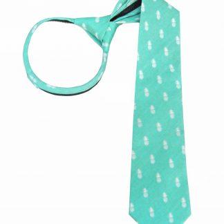 """17"""" Tiffany Blue Pineapple Zipper Tie 3516-0"""