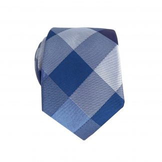 Blue, Light Blue Block Diamond Skinny Men's Tie 10565-0