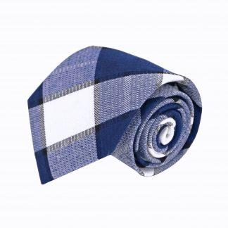 Blue, White Large Block Men's Tie 5214-0