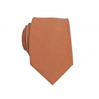 Copper Solid Skinny Men's Tie 5134-0